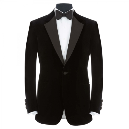 Black Silk Velvet Evening Jacket £2,250
